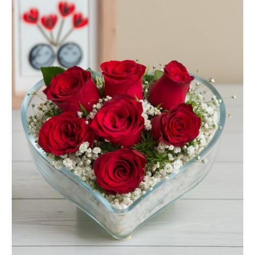 Biricik Sevgilime 7 Kırmızı Gül